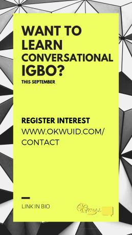 WANT TO LEARN CONVERSATIONAL IGBO_